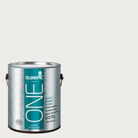 Olympic ONE 124 Fluid Ounce(S) Interior Satin Snow Storm Paint and Primer In One