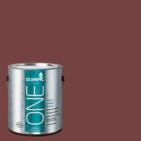 Olympic ONE Bordeaux Satin Latex Interior Paint and Primer In One (Actual Net Contents: 114-fl oz)