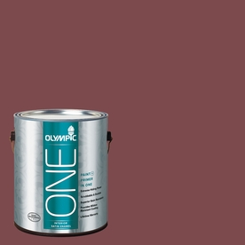 Olympic ONE 114 Fluid Ounce(S) Interior Satin Sun Dried Tomato Paint and Primer In One