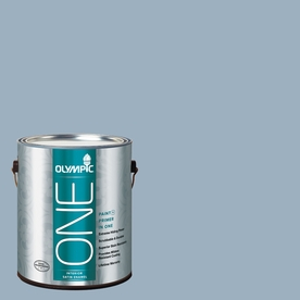 Olympic ONE Sterling Silver Satin Latex Interior Paint and Primer In One (Actual Net Contents: 124-fl oz)