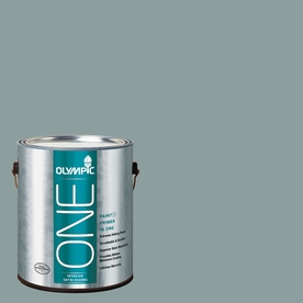 Olympic ONE 116 Fluid Ounce(S) Interior Satin Aqua Smoke Paint and Primer In One