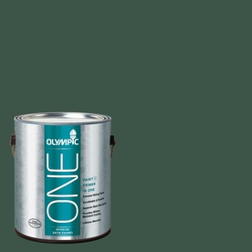 Olympic ONE Black Spruce Satin Latex Interior Paint and Primer In One (Actual Net Contents: 114-fl oz)