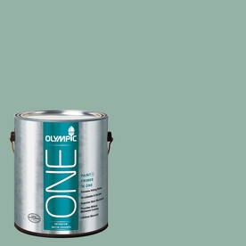 Olympic ONE Early Spring Satin Latex Interior Paint and Primer In One (Actual Net Contents: 116-fl oz)