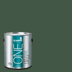 Olympic ONE Royal Hunter Green Satin Latex Interior Paint and Primer In One (Actual Net Contents: 114-fl oz)