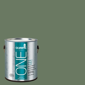 Olympic Gallon Interior Satin Green Paint and Primer in One