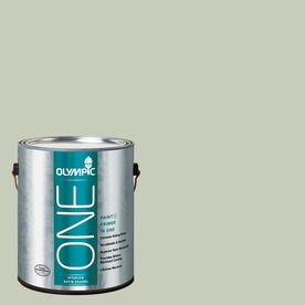 Olympic ONE 124 Fluid Ounce(S) Interior Satin Frosty Pine Paint and Primer In One