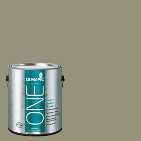 Olympic ONE 116 Fluid Ounce(S) Interior Satin Cavern Moss Paint and Primer In One