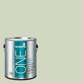 Olympic ONE Pale Moss Green Satin Latex Interior Paint and Primer In One (Actual Net Contents: 124-fl oz)