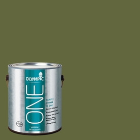 Olympic ONE 114 Fluid Ounce(S) Interior Satin Globe Artichoke Paint and Primer In One