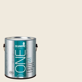 Olympic ONE 124 Fluid Ounce(S) Interior Satin Heirloom Lace Paint and Primer In One