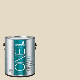 Olympic ONE Navajo White Satin Latex Interior Paint and Primer In One (Actual Net Contents: 124-fl oz)
