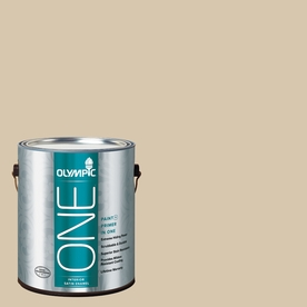 Olympic ONE Classic Khaki Satin Latex Interior Paint and Primer In One (Actual Net Contents: 124-fl oz)