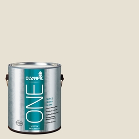 Olympic ONE 124 Fluid Ounce(S) Interior Satin Off White Paint and Primer In One