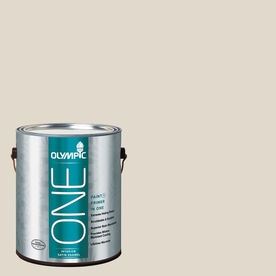 Olympic ONE Gravel Satin Latex Interior Paint and Primer In One (Actual Net Contents: 124-fl oz)