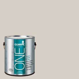 Olympic ONE Gray Beige Satin Latex Interior Paint and Primer In One (Actual Net Contents: 124-fl oz)
