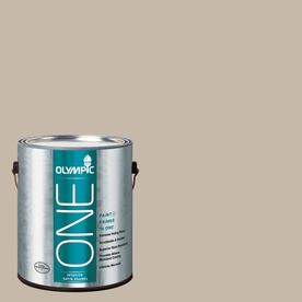 Olympic ONE Stonington Satin Latex Interior Paint and Primer In One (Actual Net Contents: 124-fl oz)