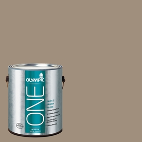 Olympic ONE Oyster Shell Satin Latex Interior Paint and Primer In One (Actual Net Contents: 116-fl oz)