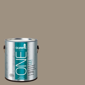Olympic ONE StONE Gray Satin Latex Interior Paint and Primer In One (Actual Net Contents: 116-fl oz)