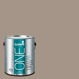 Olympic ONE 116 Fluid Ounce(S) Interior Satin Earl Gray Paint and Primer In One