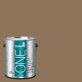 Olympic ONE 114 Fluid Ounce(S) Interior Satin Hat Box Brown Paint and Primer In One