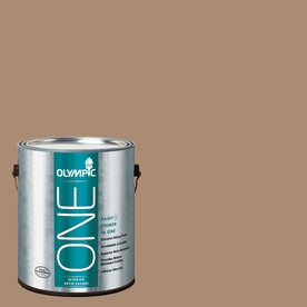 Olympic ONE Hot Chocolate Satin Latex Interior Paint and Primer In One (Actual Net Contents: 116-fl oz)