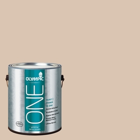 Olympic ONE Imperial Sand Satin Latex Interior Paint and Primer In One (Actual Net Contents: 124-fl oz)