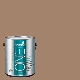 Olympic ONE Iced Tea Satin Latex Interior Paint and Primer In One (Actual Net Contents: 116-fl oz)
