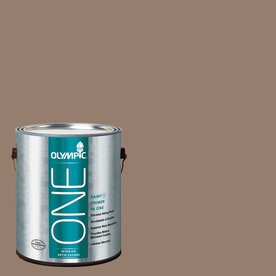 Olympic ONE English Saddle Satin Latex Interior Paint and Primer In One (Actual Net Contents: 116-fl oz)