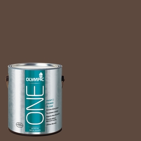 Olympic ONE 114 Fluid Ounce(S) Interior Satin Fudge Truffle Paint and Primer In One