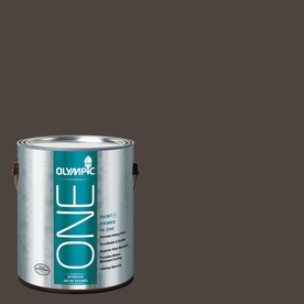 Olympic ONE Dark Granite Satin Latex Interior Paint and Primer In One (Actual Net Contents: 114-fl oz)