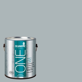 Olympic ONE Smoke Screen Satin Latex Interior Paint and Primer In One (Actual Net Contents: 124-fl oz)