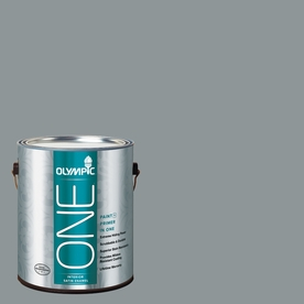 Olympic ONE 116 Fluid Ounce(S) Interior Satin Steeple Gray Paint and Primer In One
