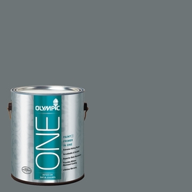 Olympic ONE Volcanic Ash Satin Latex Interior Paint and Primer In One (Actual Net Contents: 114-fl oz)