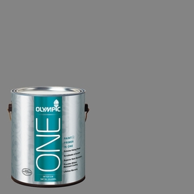 Olympic ONE 116 Fluid Ounce(S) Interior Satin Dover Gray Paint and Primer In One