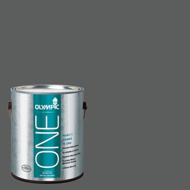 Olympic ONE 114 Fluid Ounce(S) Interior Satin Knight's Armor Paint and Primer In One