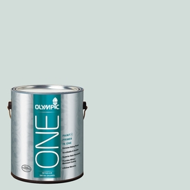 Olympic ONE 124 Fluid Ounce(S) Interior Satin Morning Fog Paint and Primer In One