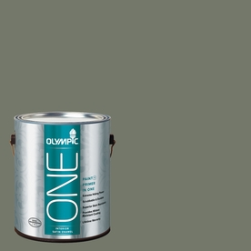 Olympic ONE Thyme Green Satin Latex Interior Paint and Primer In One (Actual Net Contents: 114-fl oz)