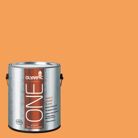 Olympic ONE Mandarin Semi-Gloss Latex Interior Paint and Primer In One (Actual Net Contents: 114-fl oz)
