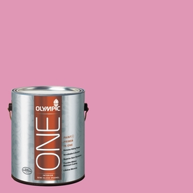 Olympic ONE Muted Fuchsia Semi-Gloss Latex Interior Paint and Primer In One (Actual Net Contents: 116-fl oz)