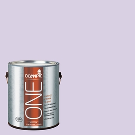 Olympic ONE Lightly Lilac Semi-Gloss Latex Interior Paint and Primer In One (Actual Net Contents: 124-fl oz)