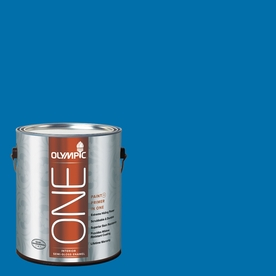 Olympic ONE Cobalt Blue Semi-Gloss Latex Interior Paint and Primer In One (Actual Net Contents: 114-fl oz)