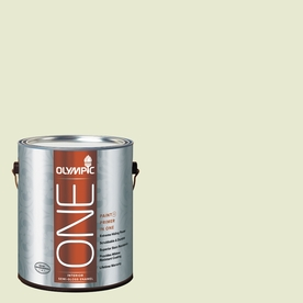 Olympic ONE Soothing Aloe Semi-Gloss Latex Interior Paint and Primer In One (Actual Net Contents: 124-fl oz)