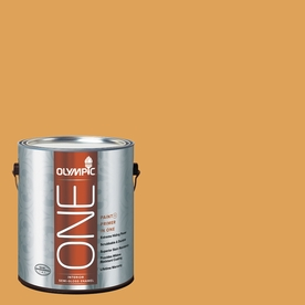 Olympic ONE Brown Mustard Semi-Gloss Latex Interior Paint and Primer In One (Actual Net Contents: 114-fl oz)