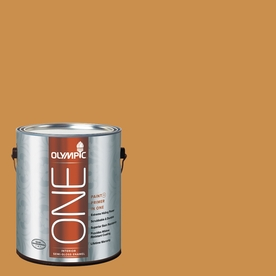 Olympic ONE 114 Fluid Ounce(S) Interior Semi-Gloss Allspice Paint and Primer In One