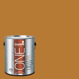 Olympic ONE Cider Toddy Semi-Gloss Latex Interior Paint and Primer In One (Actual Net Contents: 114-fl oz)