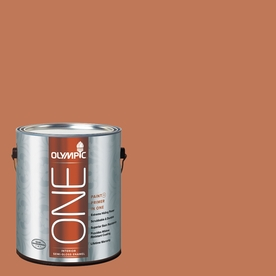 Olympic ONE Brown Clay Semi-Gloss Latex Interior Paint and Primer In One (Actual Net Contents: 114-fl oz)