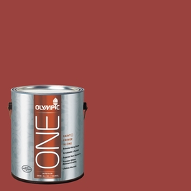 Olympic ONE 114 Fluid Ounce(S) Interior Semi-Gloss Burning Bush Paint and Primer In One