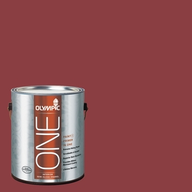 Olympic ONE Gallon Interior Semi-Gloss Apple-A-Day Paint and Primer In One B35-6-APPLE-A-356830