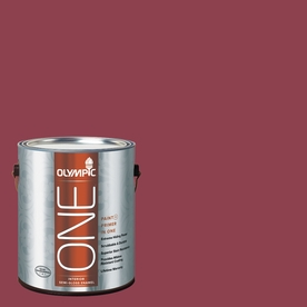 Olympic ONE 114 Fluid Ounce(S) Interior Semi-Gloss Madeira Red Paint and Primer In One