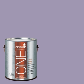 Olympic ONE Mystic Purple Semi-Gloss Latex Interior Paint and Primer In One (Actual Net Contents: 116-fl oz)